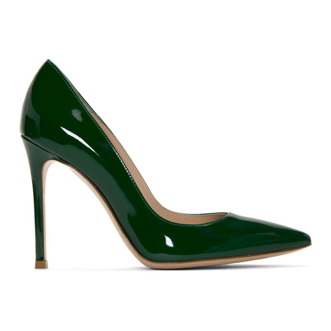 Gianvito Rossi Green Patent Gianvito Pumps