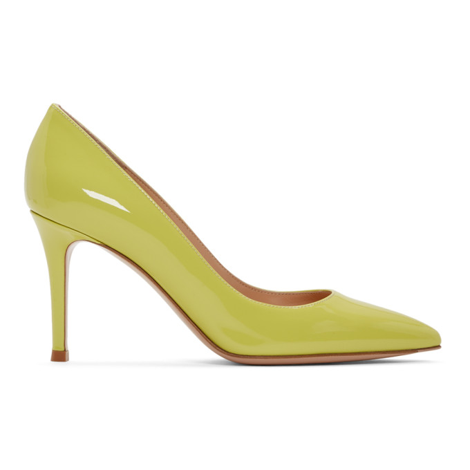 Gianvito Rossi Yellow Patent Gianvito Heels