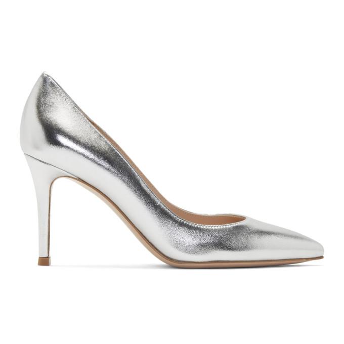 Buy Gianvito Rossi Silver Gianvito Heels online