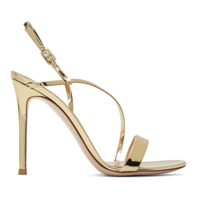 Gianvito Rossi Gold Manhattan Sandals