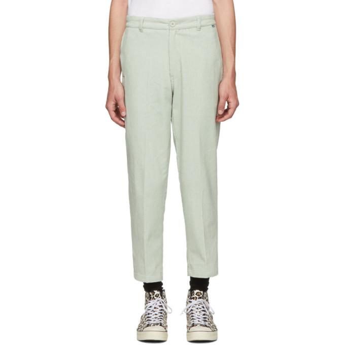 Dickies Construct Pantalon en velours cotele vert Straight Slim exclusif a SSENSE