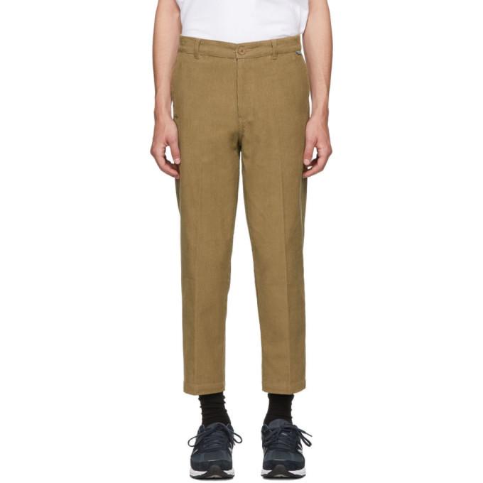 Dickies Construct Pantalon en velours cotele brun Straight Slim exclusif a SSENSE
