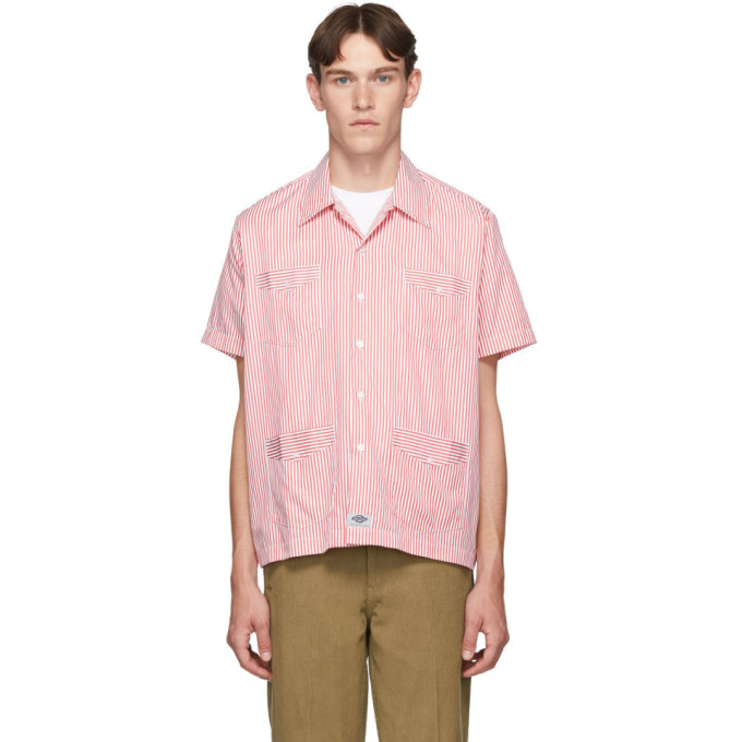 Dickies Construct Chemise a manches courtes rouge et blanche Havana
