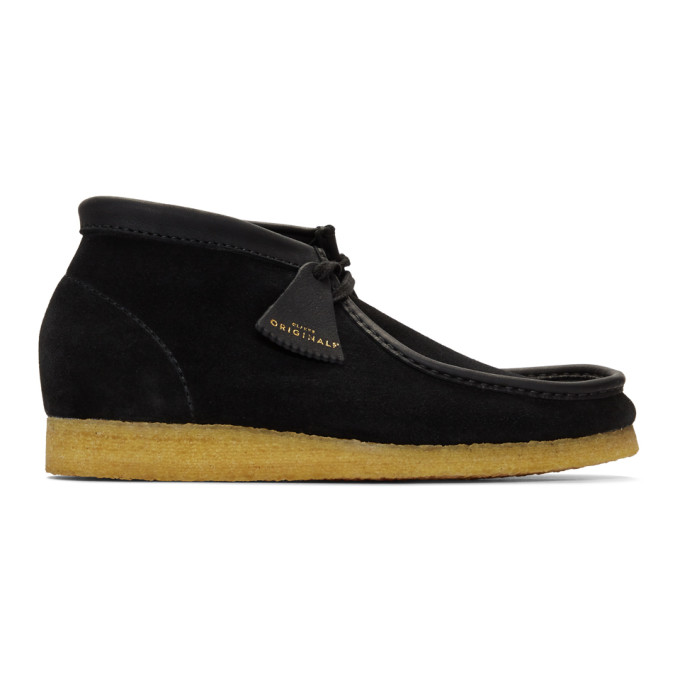 Clarks Originals Black Made In Italy Wallabee Boots