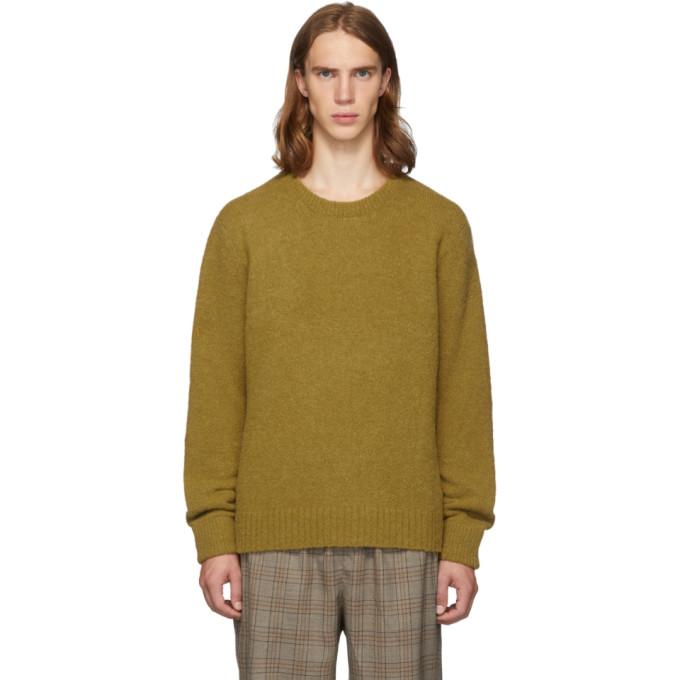 Tibi SSENSE Exclusive Tan Alpaca Airy Pullover Sweater