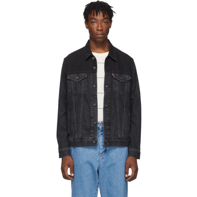 Levis Black Vintage Trucker Jacket
