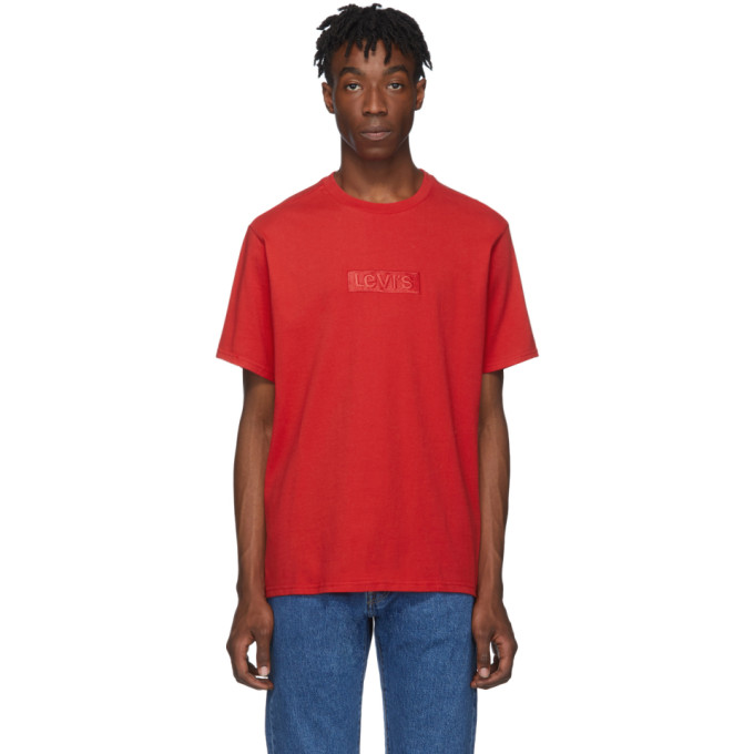 Levis Red Relaxed Logo T-Shirt