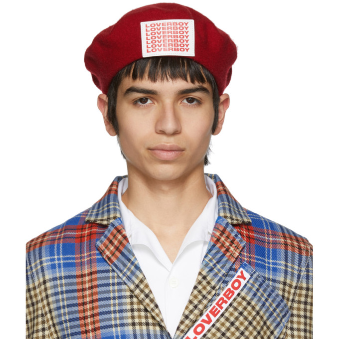 Charles Jeffrey Loverboy Beret a ecusson a logo rouge