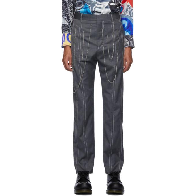 Charles Jeffrey Loverboy Black Scribble Trousers