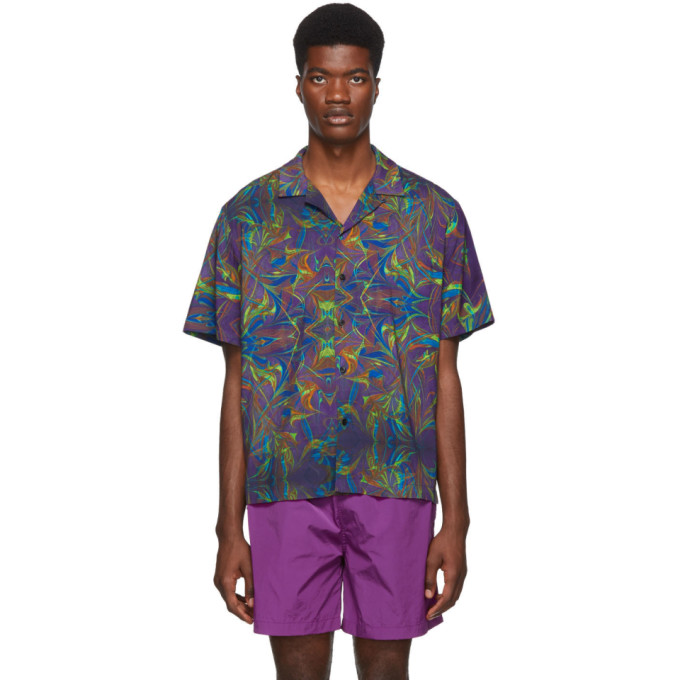 Everest Isles Chemise mauve Oil Spill Beach