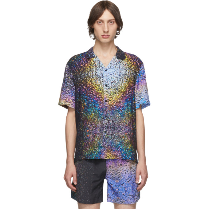 Everest Isles Chemise a imprime multicolore Asphalt Beach exclusive a SSENSE