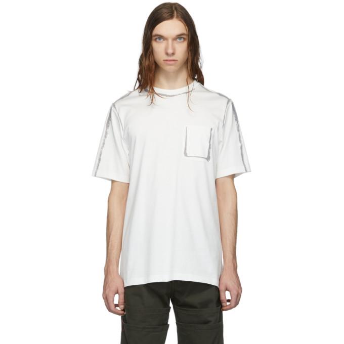Feng Chen Wang T-shirt floque blanc Edging