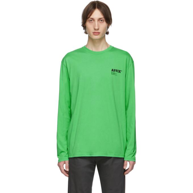 Affix T-shirt a manches longues vert New Utility