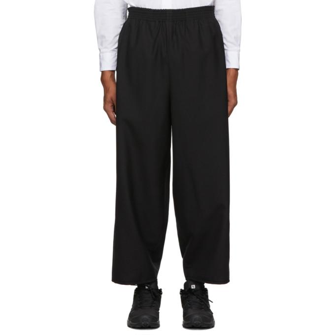 Camiel Fortgens Pantalon en laine noir Grandpa
