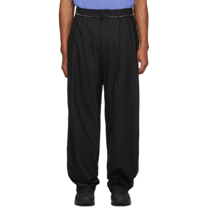 Camiel Fortgens Pantalon plisse noir Suit