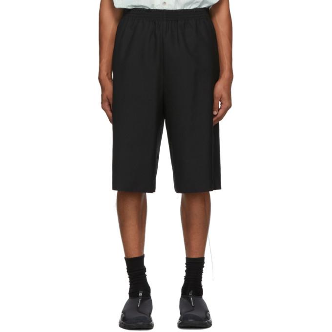 Camiel Fortgens Black Wool Shorts