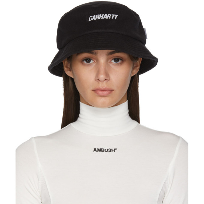 Carhartt Work In Progress Chapeau a logo noir Beaufort