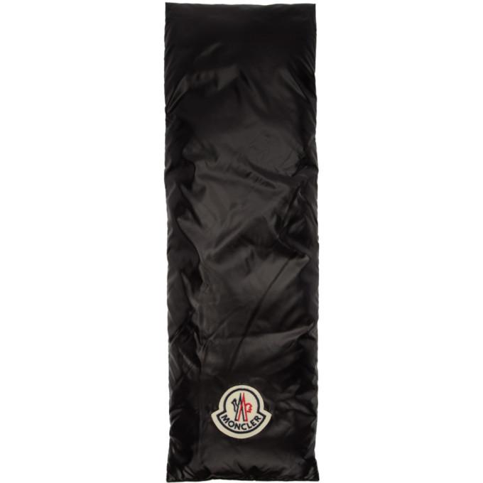 Moncler Foulard en duvet noir et blanc