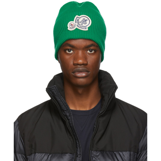 Moncler Bonnet en maille vert