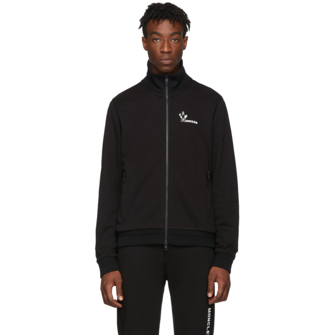 Moncler Black Maglia Zip-Up Sweater