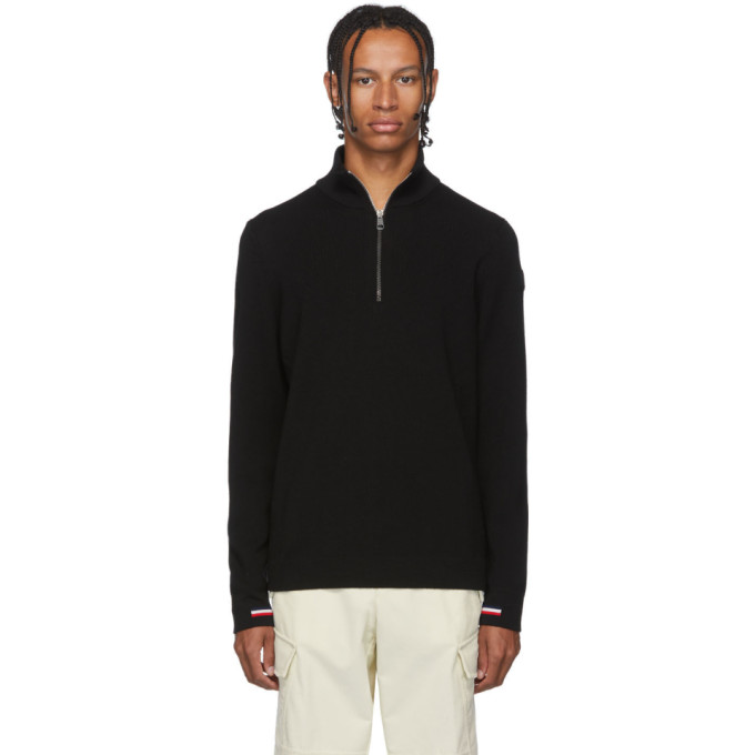 Moncler Black Maglione Lupetto Zip-Up Sweater