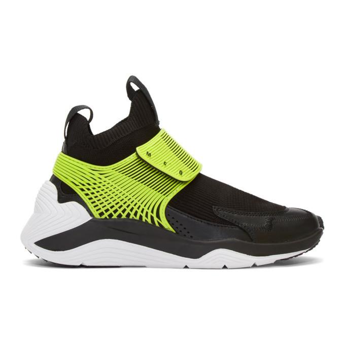 McQ Alexander McQueen Black and Green Hikaru 3.00 Sneakers