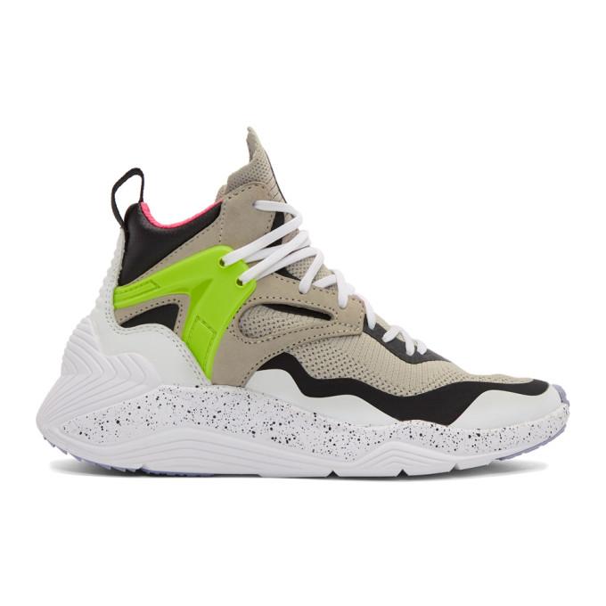 McQ Alexander McQueen Grey Sodai High-Top Sneakers