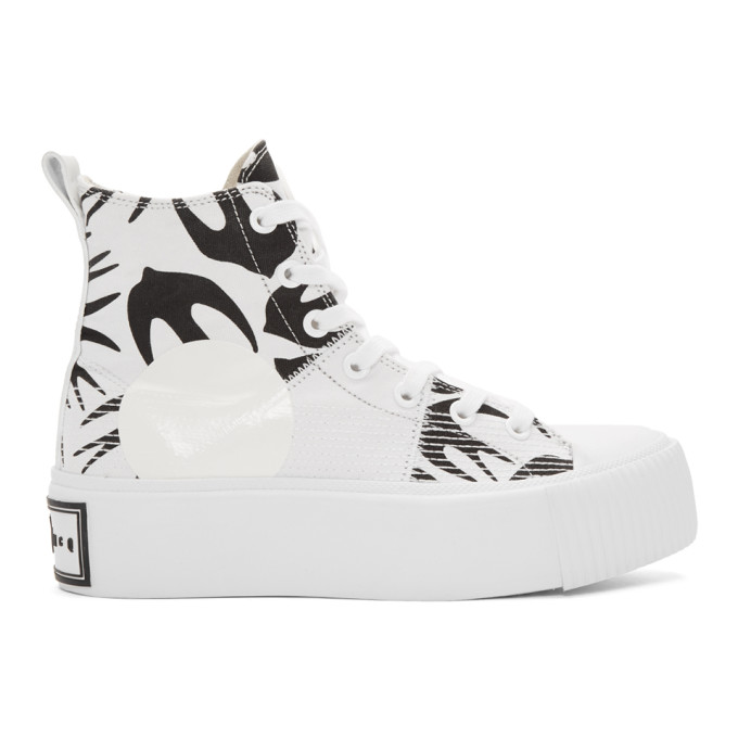 McQ Alexander McQueen White Mini Swallow Platform Sneakers