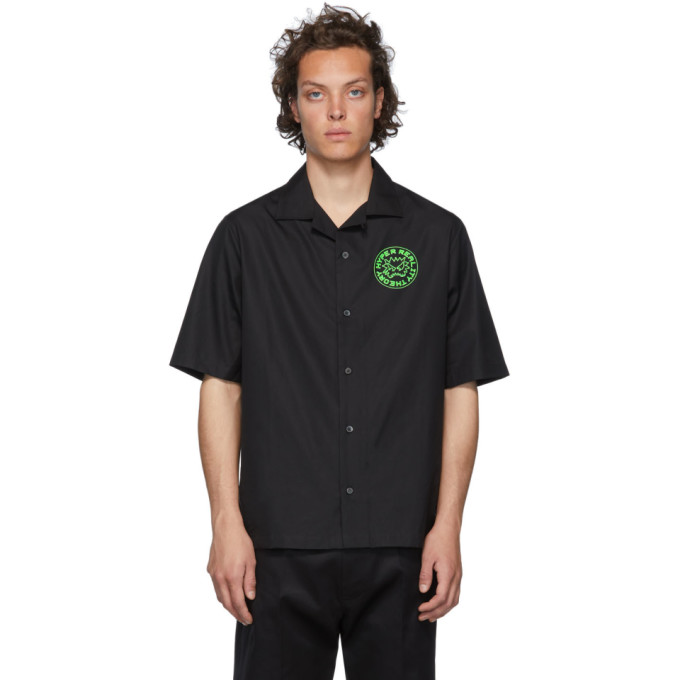 McQ Alexander McQueen Chemise noire Chester Theory