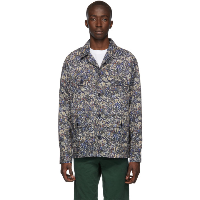 Norse Projects Chemise verte Lawn Print Mads