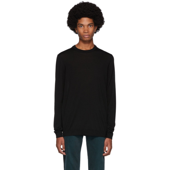 Norse Projects Black Merino Light Sigfred Sweater