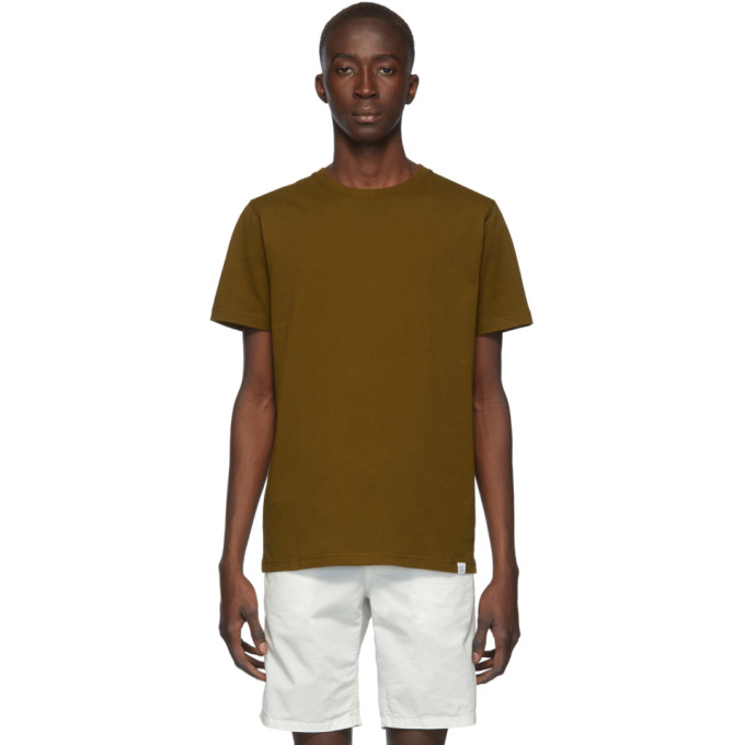 Norse Projects T-shirt brun Standard Niels
