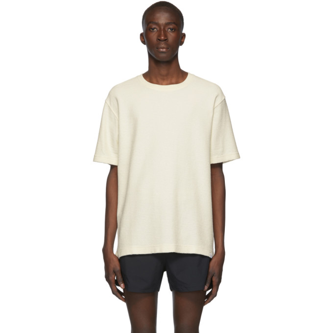Norse Projects T-shirt blanc casse Texture Johannes
