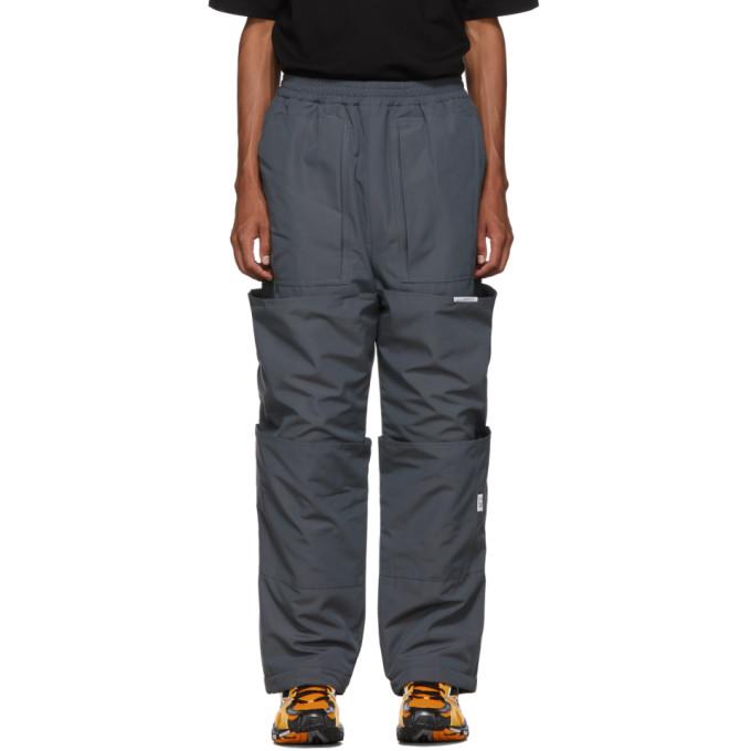 Xander Zhou Pantalon de survetement gris Cargo