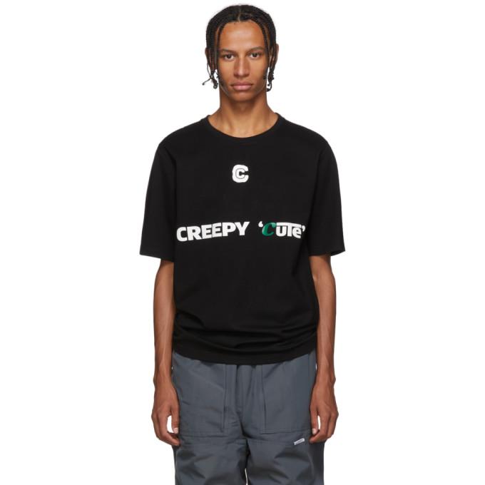 Xander Zhou T-shirt en jersey noir Creepy Cute