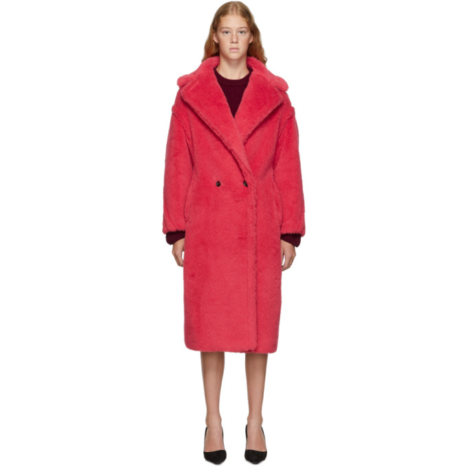 Max Mara Manteau rouge Teddy Bear