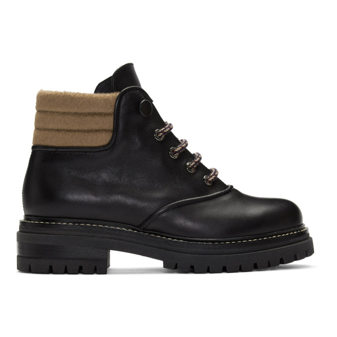 Max Mara Black Harlow Hiking Boots