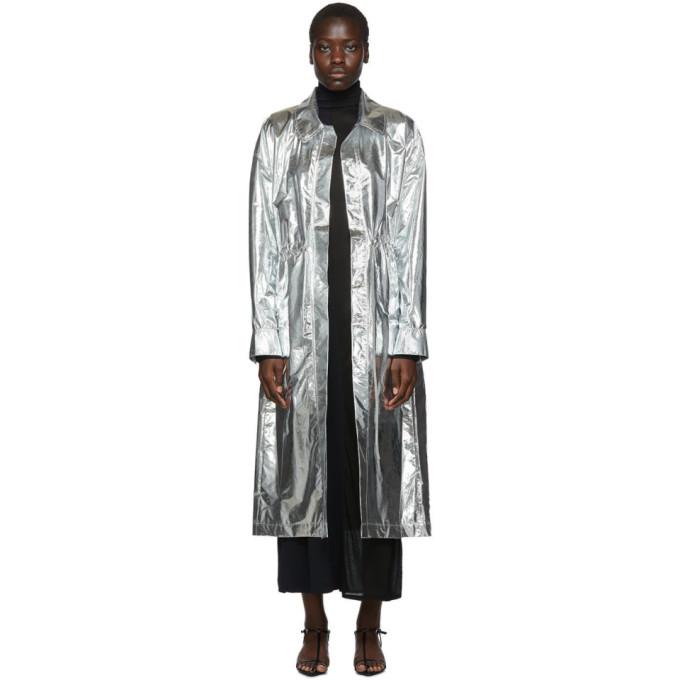 Markoo Manteau argente Shirt Dress