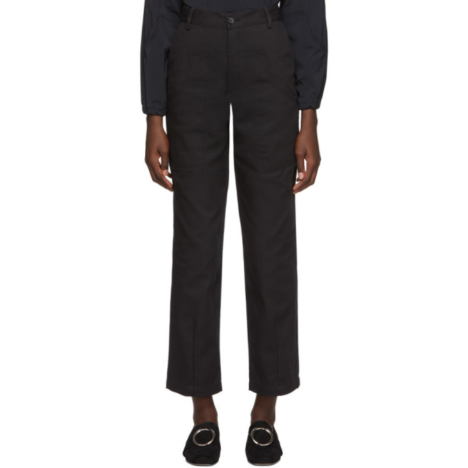 Markoo Pantalon noir The Dropped Pocket exclusif a SSENSE