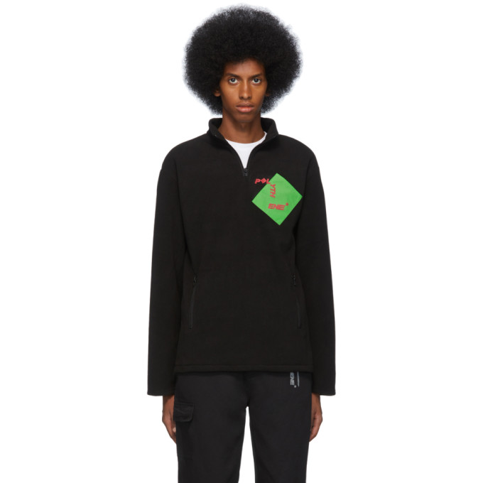Polythene* Optics Pull molletonne noir Quarter-Zip