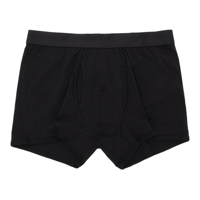 Sunspel Boxer noir Superfine Trunk