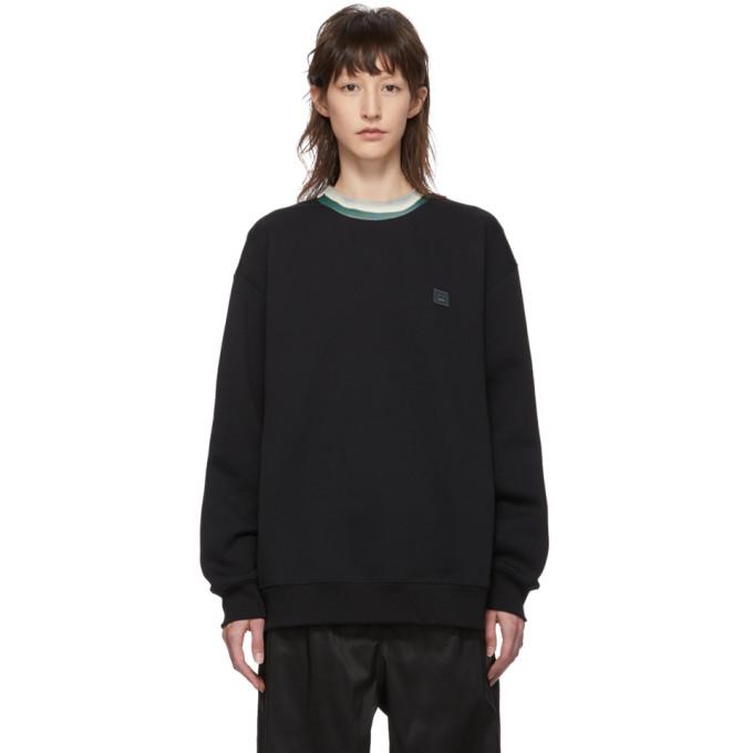 ACNE STUDIOS | Acne Studios Black Folsom Face Sweatshirt | Goxip