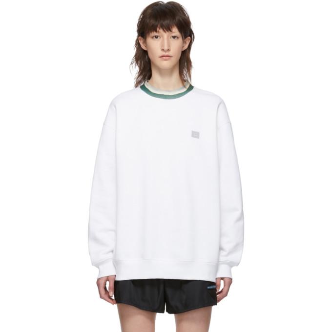 ACNE STUDIOS | Acne Studios White Folsom Face Sweatshirt | Goxip