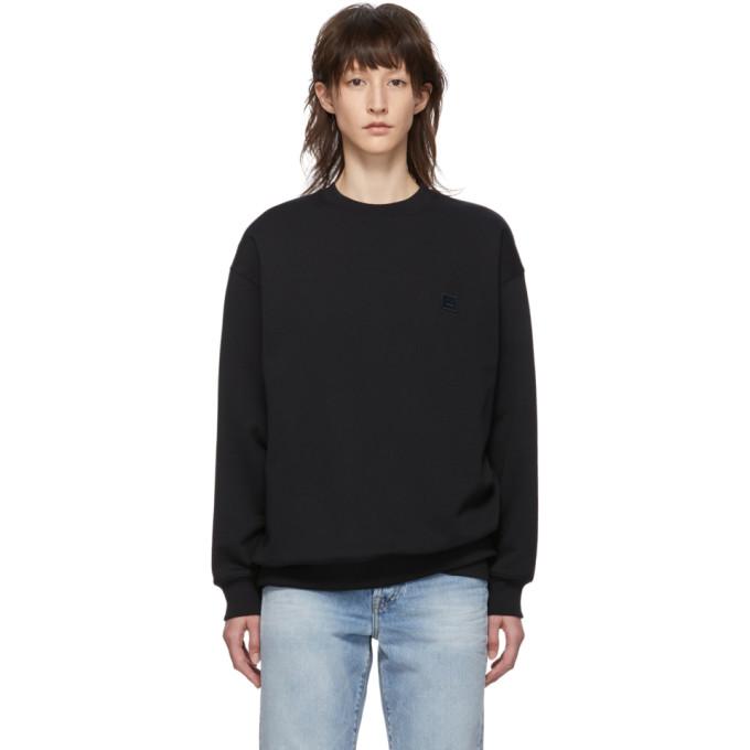 ACNE STUDIOS | Acne Studios Black Oversized Forba Face Sweatshirt | Goxip