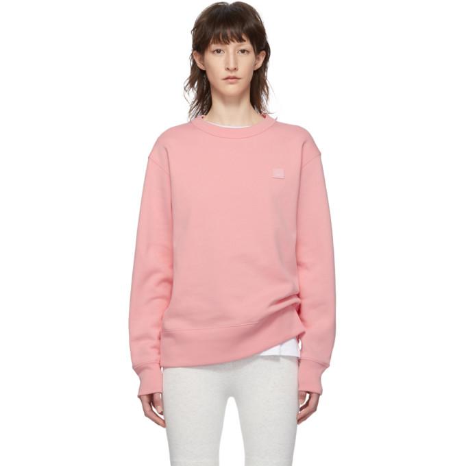 ACNE STUDIOS | Acne Studios Pink Fairview Face Sweatshirt | Goxip