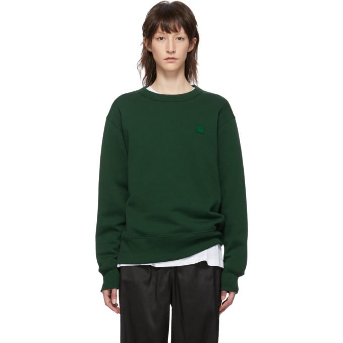 ACNE STUDIOS | Acne Studios Green Fairview Face Sweatshirt | Goxip