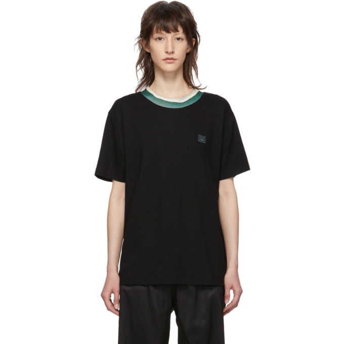 ACNE STUDIOS | Acne Studios Black Elsom Face T-Shirt | Goxip