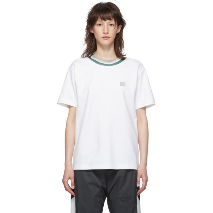 ACNE STUDIOS | Acne Studios White Elsom Face T-Shirt | Goxip