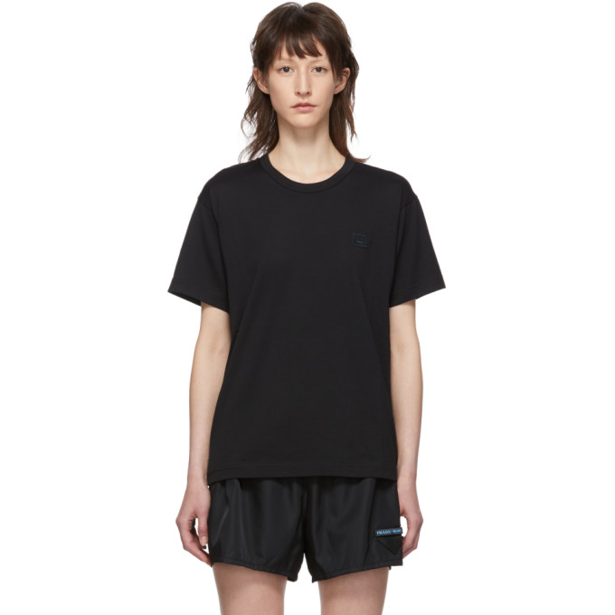ACNE STUDIOS | Acne Studios Black Nash Face T-Shirt | Goxip