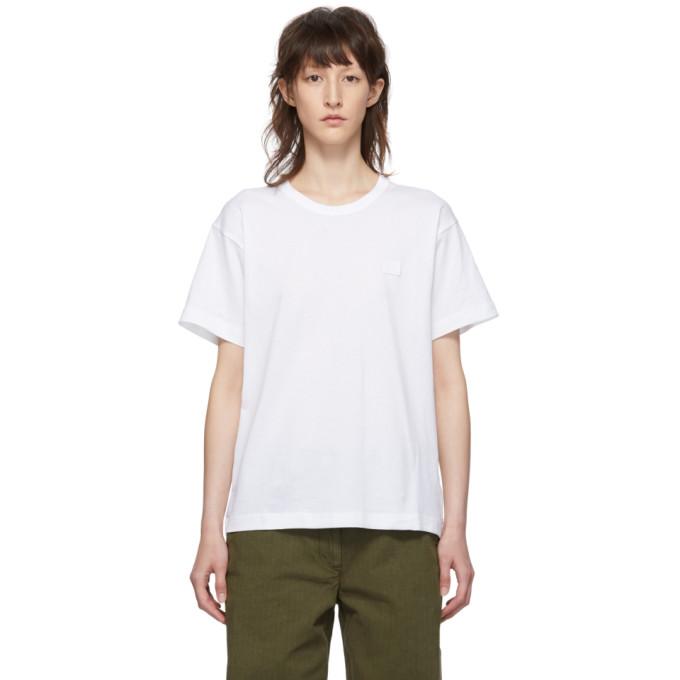 ACNE STUDIOS | Acne Studios White Nash Face T-Shirt | Goxip